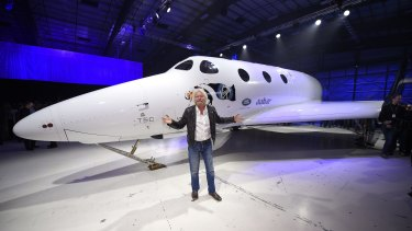 No sales, no income: Sir Richard Branson in front of Virgin Galactic's SpaceShipTwo space tourism rocket.