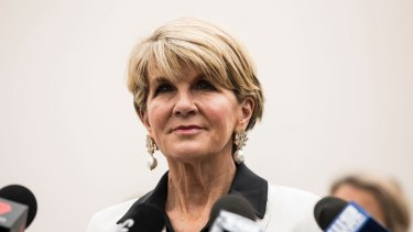Julie Bishop will deliver a keynote address to the Australian Chamber of Commerce in Hong Kong on Friday.