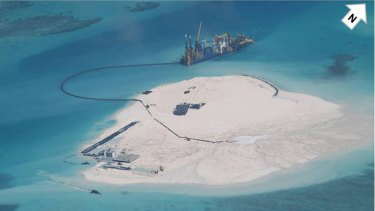 Chinese activity in the South China Sea, turning coral reefs into artificial islands, expanded its influence in the strategically important maritime area.