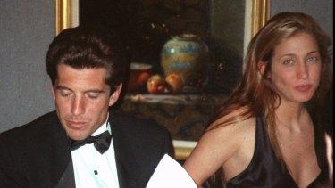 Carolyn Bessette Kennedy with John F Kennedy in New York in 1995.