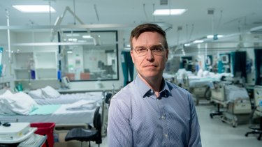 Austin Hospital director of intensive care Dr Stephen Warrillow, in one of the hospital's wards earlier this year.