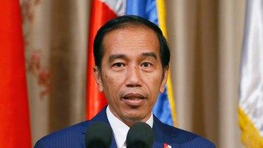 "Indonesia's President Joko ""Jokowi"" Widodo."