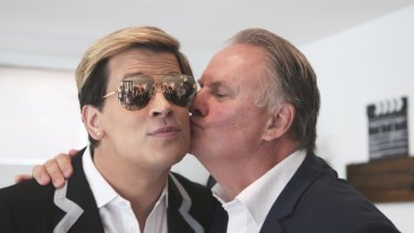 Milo Yiannopoulos getting cosy with Mark Latham.