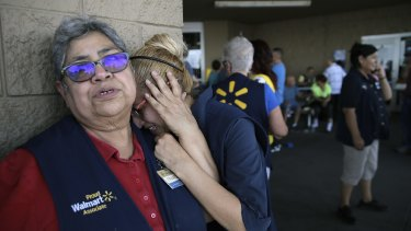 Walmart employees in the aftermath of the El Paso shooting.