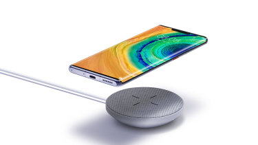 The Huawei Mate 30 can charge faster with a wireless charger than the iPhone 11 or Galaxy Note 10 can with a cable.