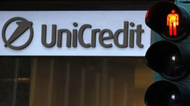 UniCredit's share price is slumping.