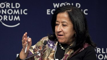 Lubna S. Olayan, chief executive officer of Olayan Financing.