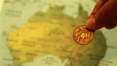 The Australian dollar has fallen 13 per cent against the greenback since the end of January.