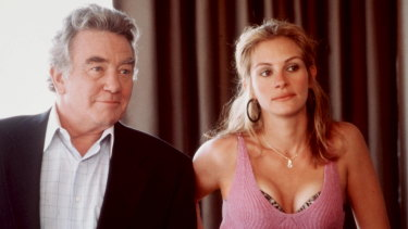Albert Finney, left,  and Julia Roberts appear in a scene from <i>Erin Brockovich</i>, for which Roberts won an Oscar.
