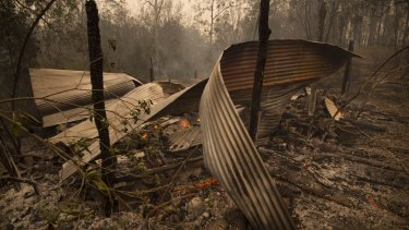 Destruction within the Carrai East fire ground at Toorumbee.