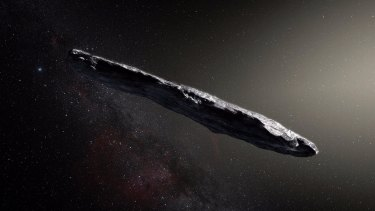 Interstellar interloper Oumuamua.