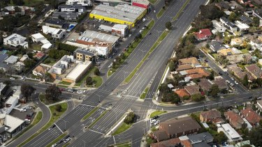 Melbourne's empty streets during state four lockdown.