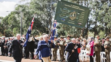 Hundreds applauded as veterans of the battle marched down Anzac Parade in front of the Australian Vietnam Forces National Memorial.
