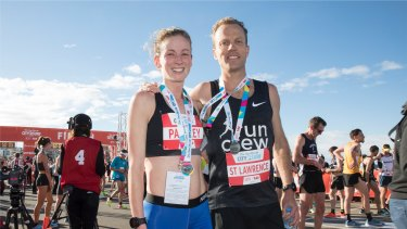 Ellie Pashley and Ben St Lawrence are the first female and male competitors to finish the 2018 City to Surf.