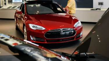 Tesla announced it is cutting the prices of its two most expensive models, the Model S, pictured, and the Model X SUV.