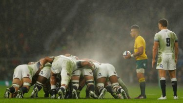 Ben Youngs, far right, has been part of the England side for each of their six consecutive wins over Australia since the last World Cup.