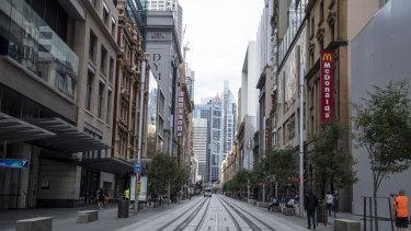 Sydney streets have become almost deserted as people stay at home.