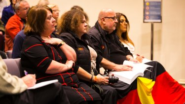 Representatives from the local Indigenous community at last year's public forum to discuss the decision by Darebin Council to cease Australia Day celebrations on January 26.