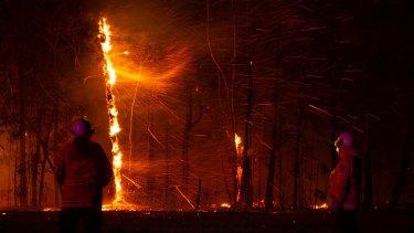 NSW Rural Fire Service crews have had a long season, such as this team that battled a blaze near Bilpin last August.