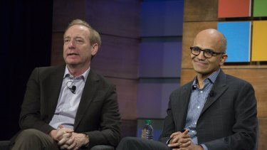 Microsoft president Brad Smith and CEO Satya Nadella have been credited with transforming the company.