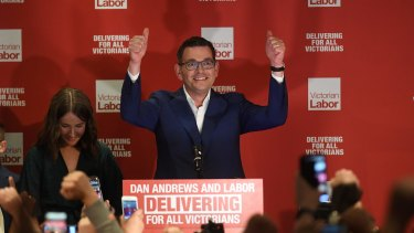 Premier Daniel Andrews' Labor Party was returned to power in Victoria with an increased majority.