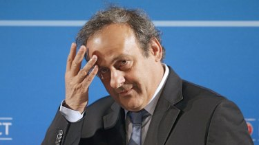 Detained: Michel Platini.