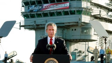 Former US president George W Bush declared the Iraq war over after six weeks. It continued for years.