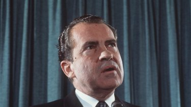 Richard Nixon resigned from office under the threat of impeachment in 1974.