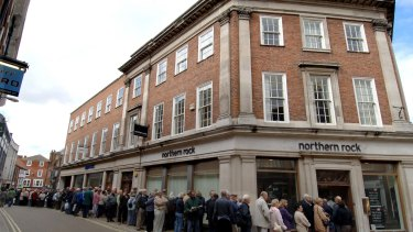 Customers queuing outside a Northern Rock branch in Britain in 2007 was an early sign to Australian economist Stephen Koukoulas of the turmoil that would become the global financial crisis.