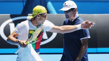 No respect: Rafael Nadal and his uncle and former coach Toni.