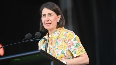 NSW Premier Gladys Berejiklian WugulOra morning ceremony at Barangaroo on Australia Day.