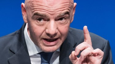 FIFA president Gianni Infantino, Football's governing body is cracking down on racism.