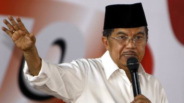 Former Indonesian vice-president Jusuf Kalla, who acted as mediator between the Taliban and the deposed Afghan government.