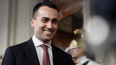 Five-Star Movement leader Luigi Di Maio.