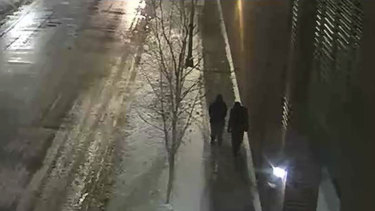 CCTV taken in the early hours of January 29 showed the two people of interest that were interviewed by police and later released.