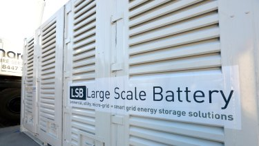 Large scale batteries are not at the point where they can effectively replace other storage technologies, James Calaway said.