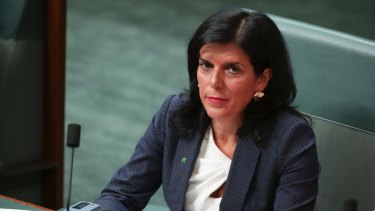 Liberal MP Julia Banks during Question Time at Parliament House in Canberra earlier this month.