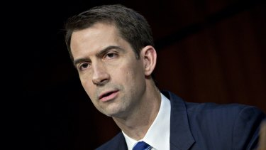 Republican Senator Tom Cotton caused a stir in Washington by drinking a glass of milk during Donald Trump's impeachment trial.