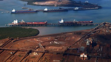 Cyclone Veronica and a fire at Cape Lambert in the Pilbara early this year took about 24 million tonnes of iron ore out of the market.