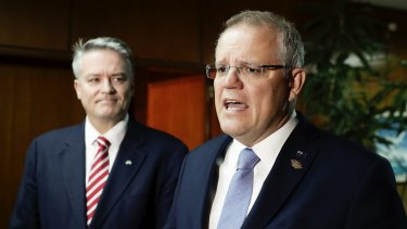 Minister for Finance Mathias Cormann and Prime Minister Scott Morrison are within striking distance of a victory for their tax cuts policy.