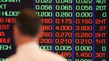The financial sector pulled down the stock market in afternoon trading on Tuesday.