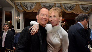 Paul Tudor Jones (with Trudie Styler) was a sceptic of Wall Street's rally.