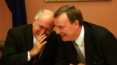 John Howard and Peter Costello, the key architects of the goods and services tax.