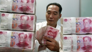 China's currency has dropped by about 6 per cent in the past year.