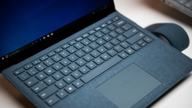 Microsoft's Surface laptop has a keyboard covered in Alcantara.