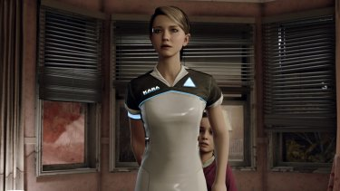 Kara is a home assistant robot that decides to disobey her programming to protect a girl.