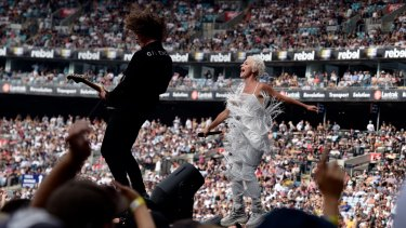 Taxpayers will fund a $250m rescue package aimed the arts and entertainment sectors. Peking Duk performed at Fire Fight Australia at ANZ Stadium in one of the last major concerts before restrictions started.