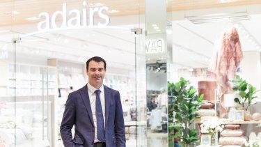 "Adairs chief executive Mark Ronan said the company had a ""significant"" half."