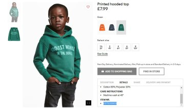 The controversial hoodie from H&M.