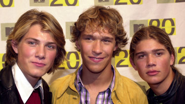 Hanson arrives for the MTV: Music Television's 20th anniversary celebration in New York in 2001.